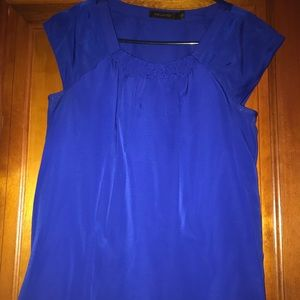 Limited blue cap sleeve top, size small